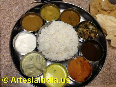 South Indian Thali image © ArtesiaIndia.us